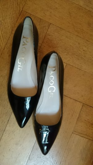 Paco Gil Lackleder Schwarz Pumps