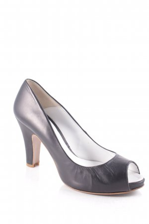 Paco Gil Peeptoe Pumps schwarz Business-Look
