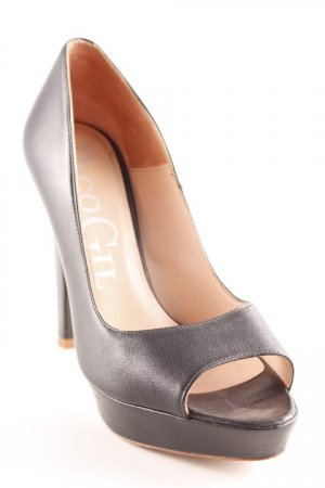 Paco Gil Peeptoe Pumps schwarz Party-Look