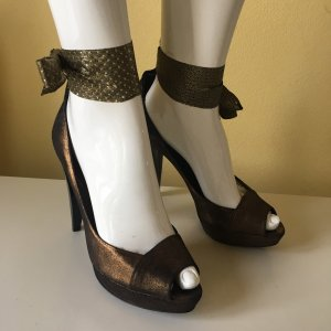 Paco Gil Lace-up Pumps bronze-colored