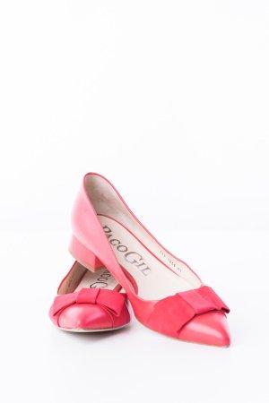 PACO GIL - Spitze Ballerinas Rot Leder
