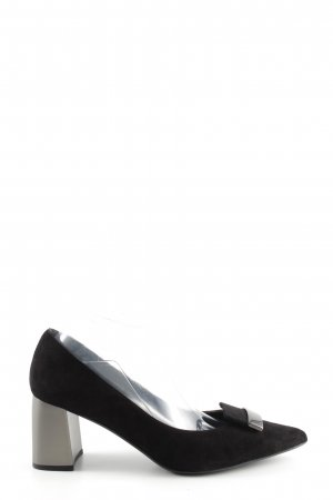 Paco Herrero Spitz-Pumps schwarz Business-Look