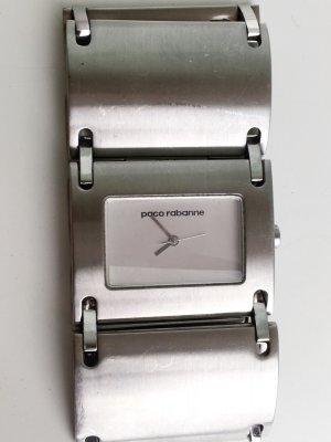 Paco rabanne Watch With Metal Strap silver-colored-white stainless steel