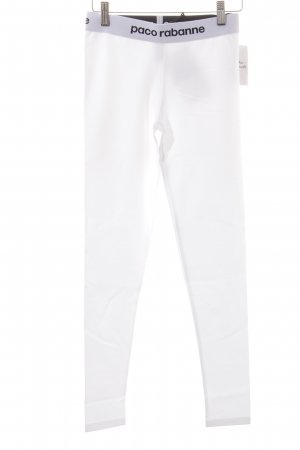 Paco rabanne Leggings white-black athletic style