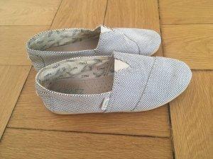 Espadrilles Mocassino bianco-blu