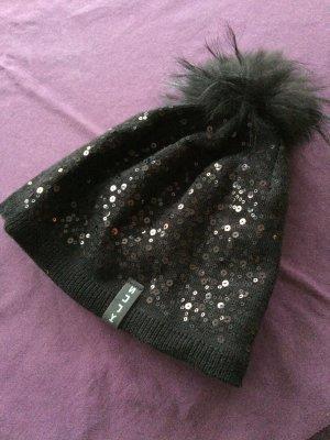 Sombrero de piel marrón-negro Licra