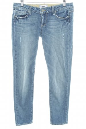 Paige 7/8 Jeans blau Used-Optik