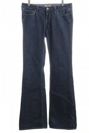 Paige Boot Cut Jeans dunkelblau Washed-Optik
