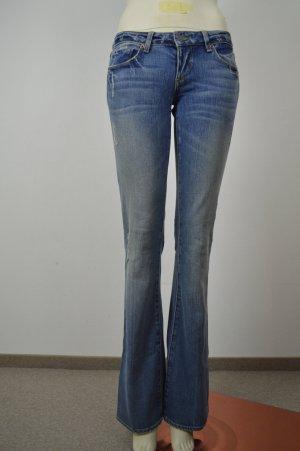 PAIGE Damen Jeans Hose Laurel Canyon Denim Bootcut Blau W26 L30 NP 129,95€