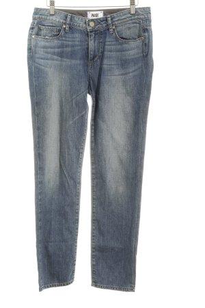 Paige Hüfthose kornblumenblau Jeans-Optik