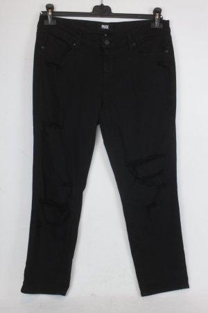 Paige Jeans Gr. 29 schwarz Mod: Jimmy Jimmy Crop
