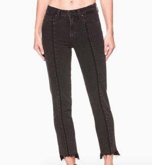 "Paige Jeans ""VINTAGE JULIA - RANGER UNEVEN HEM"" schwarz asymmetrisch - 27 - NEU!"