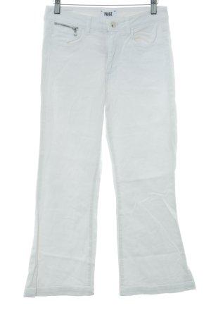 Paige Jeans a zampa d'elefante bianco stile casual