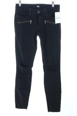 "Paige Skinny Jeans ""Indio Zip"" schwarz"