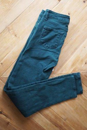 PAIGE Skinny Jeans Luxus Premium dunkelgrün Hose sexy 25x32 NEU mit Etikett