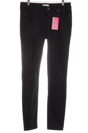 Paige Jeans slim noir style décontracté