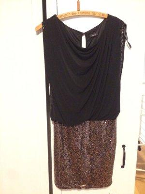 Pailetten Kleid Jake's schwarz gold minikleid