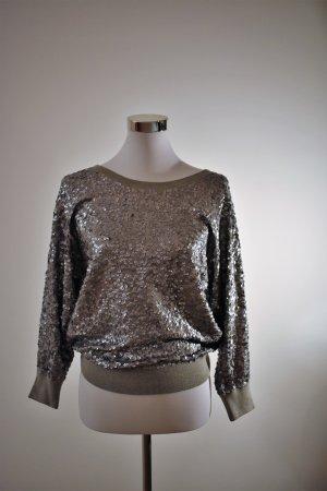 DKNY Sweatshirt zilver Katoen