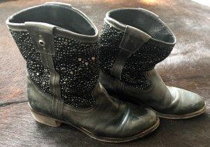 Bullboxer Low boot noir cuir