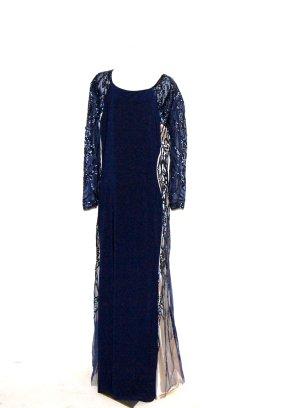 Pailettenkleid  - Abendkleid blau von Dynasty Curve Gr.46
