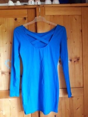 Pailettenkleid blau, mit Rückenausschnitt
