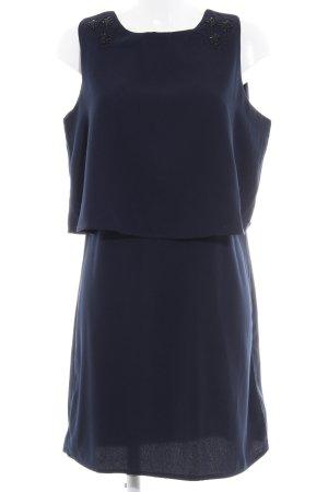 Vestido de lentejuelas azul oscuro estampado floral brillante