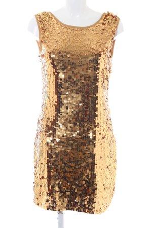 Vestido de lentejuelas color oro estilo extravagante