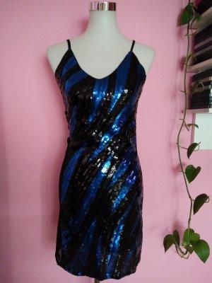 Pailettenkleid in schwarz/blau (K1)