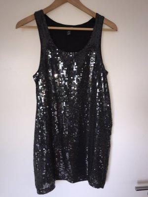 Pailettenkleid in schwarz von H&M
