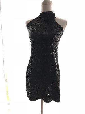 Pailettenkleid kleines schwarzes 36 Abendkleid elegant