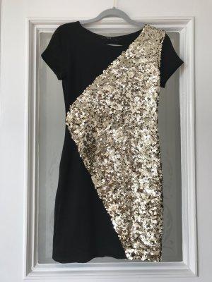 Pailettenkleid Minikleid von Set - Gold Schwarz Grösse 36