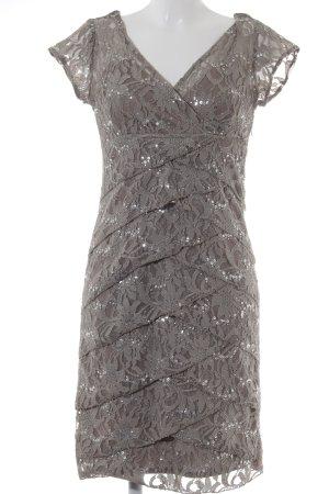 Sequin Dress ocher lace look