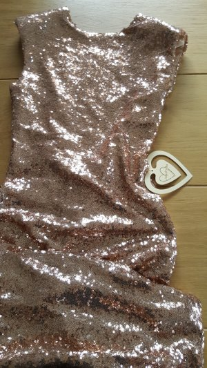 Pailettenkleid Rose Gold