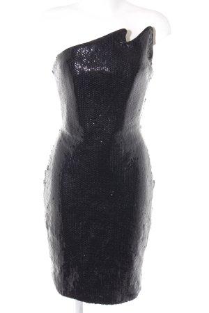 Pailettenkleid schwarz extravaganter Stil