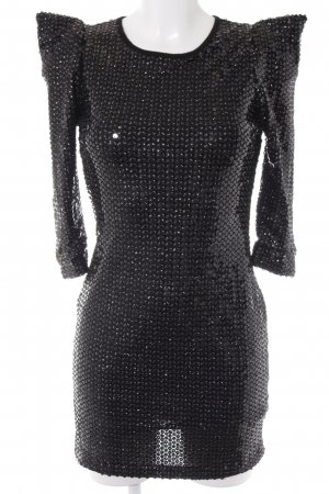 Vestido de lentejuelas negro estilo fiesta