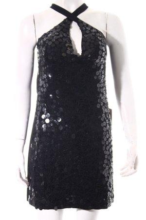 Pailettenkleid schwarz-silberfarben Party-Look