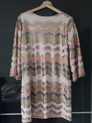 Ana Alcazar Sequin Dress pink polyester