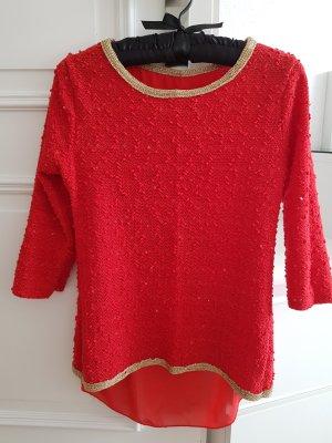 Jersey de manga corta rojo