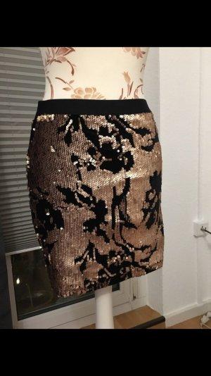 Even & Odd Miniskirt black-gold-colored