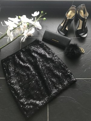 Pailettenrock schwarz neu