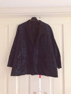 H&M Studio Tuxedo Blazer black-blue