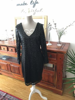 Ashley Brooke Robe à paillettes noir