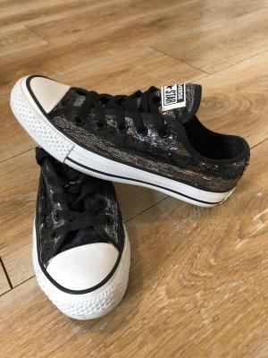 Converse Lace Shoes black-silver-colored