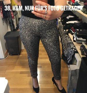 Pailletten-Hose silber