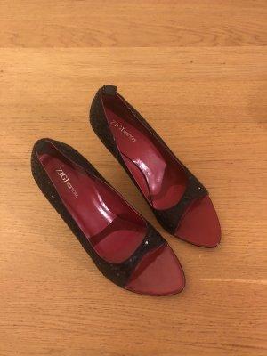 Pailletten Keilabsatz Schuhe in 38