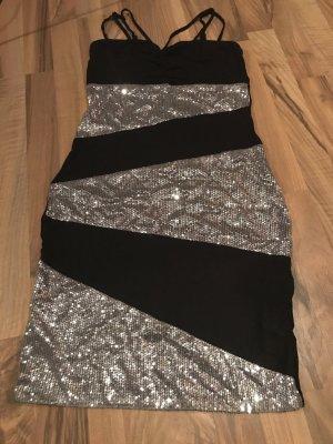 b.p.c. Bonprix Collection Sequin Dress black-silver-colored