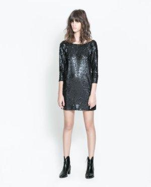 Pailletten Kleid H&M Edel Charmant Hipster