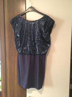 Pailletten Kleid in Blau