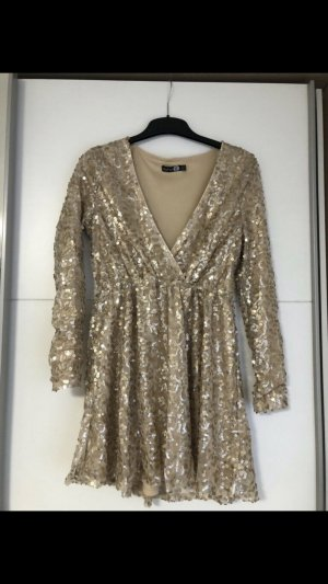 Pailletten Kleid in Gold