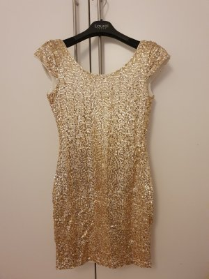 H&M Sequin Dress white-gold-colored